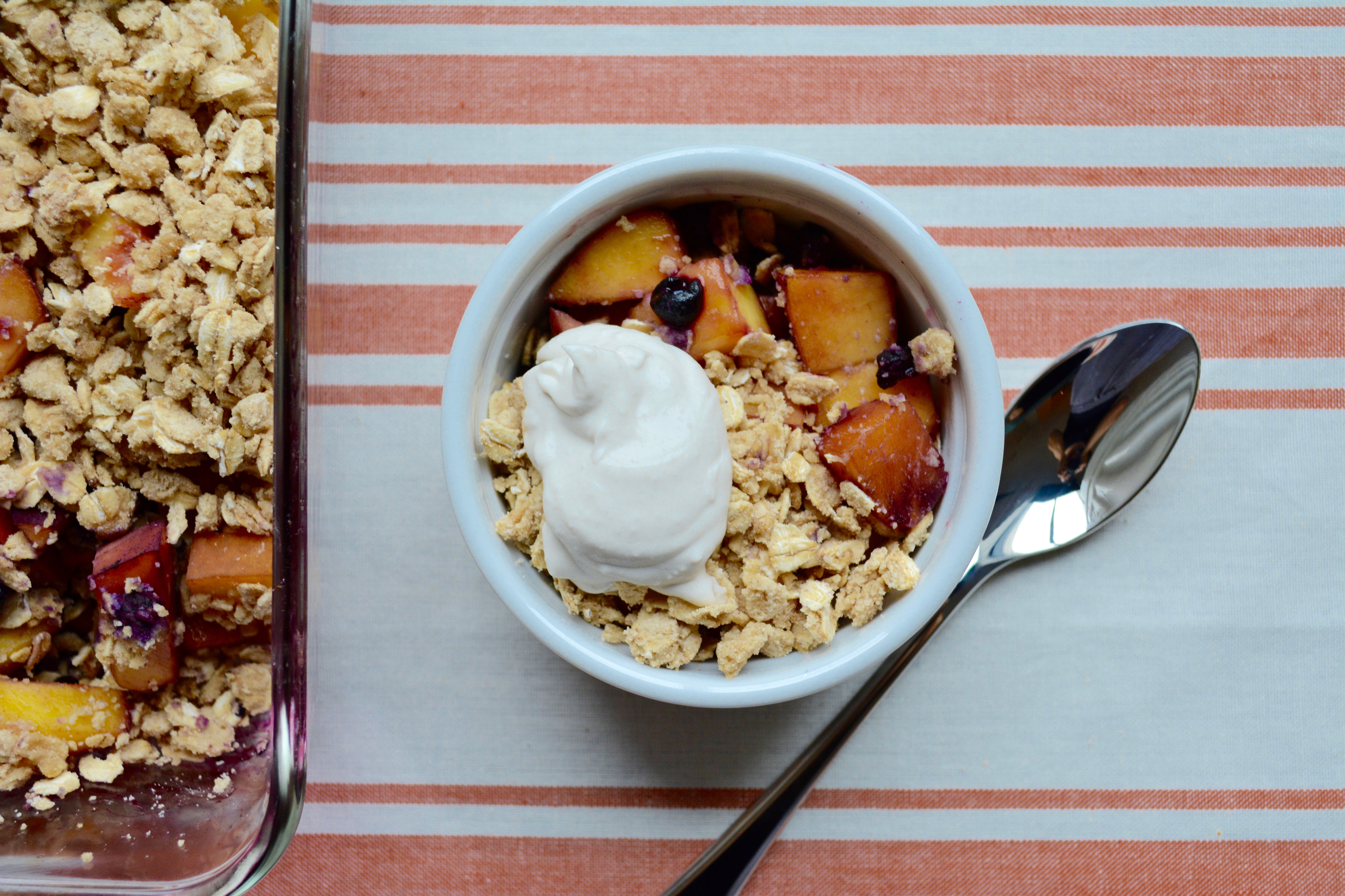 Blueberry Peach Crisp 2